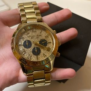 Michael Kors Men's GOLD WATCH in GOOD Condition